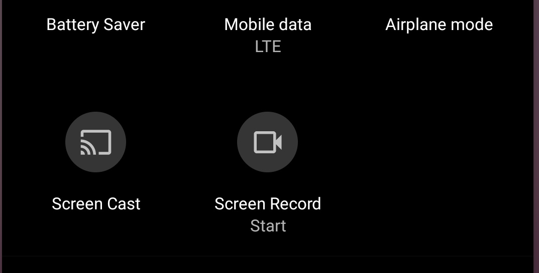 Screen recording android 11