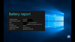 how to get a detailed report about laptop's battery in Windows 10