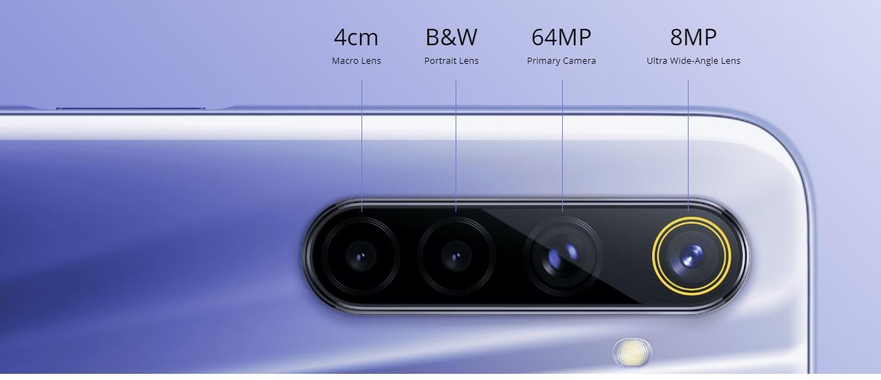 realme 6 64mp quad rear camera