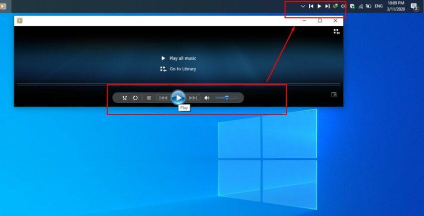 How to add media controls to the taskbar in Windows 10