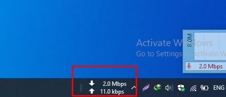 du meter windows 10 taskbar speed