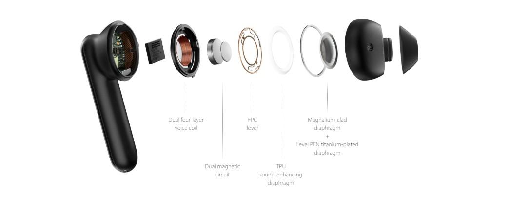 enco free earbuds sound system
