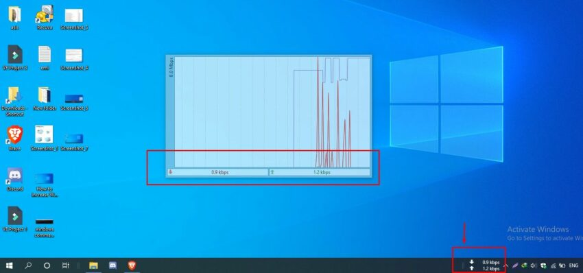 how to view Real-time Internet speed on Windows taskbar
