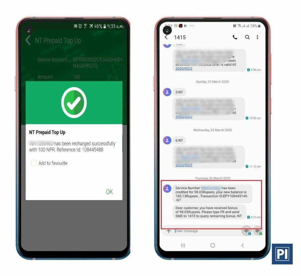 nepal telecom ntc 100% bonus recharge offer coronavirus covid-19 lockdown
