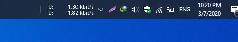 netpseedmeter windows 10 taskbar