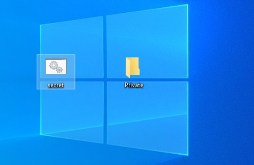 notepad secret folder trick