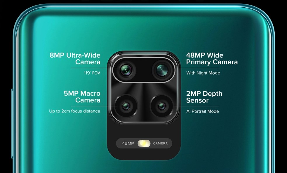 redmi note 9 pro 48mp rear quad camera