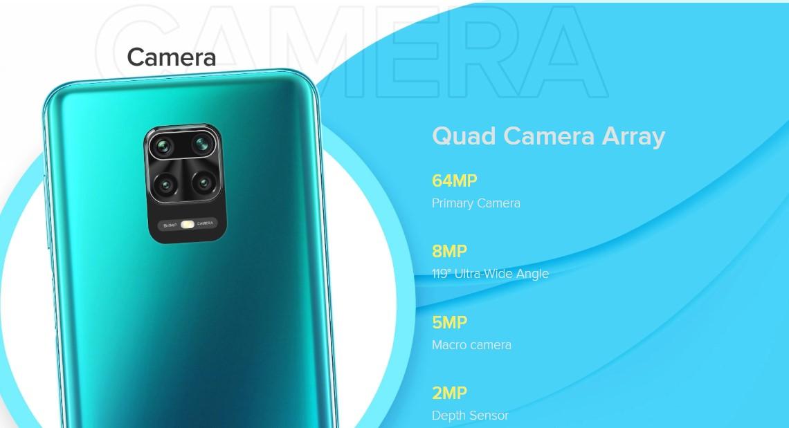 redmi note 9 pro max 64mp rear quad camera