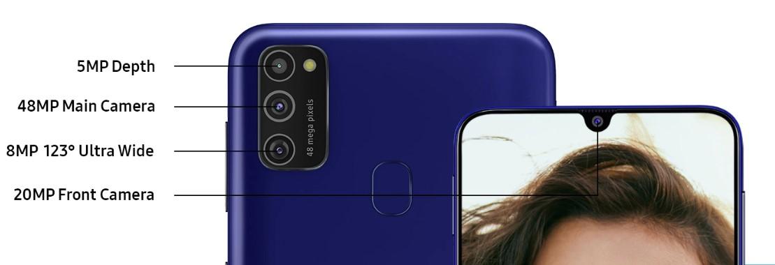 samsung galaxy m21 camera rear specs