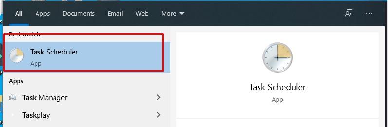 windows 10 task scheduler