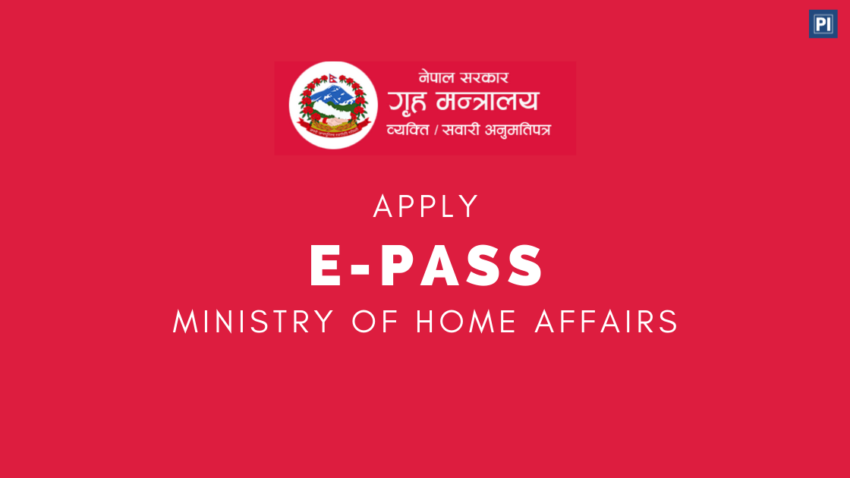 How to get vechicles e-pass / Epass online from MoHA Coronavirus Nepal