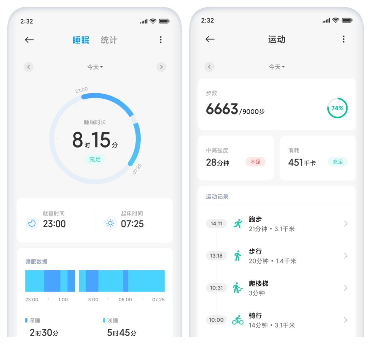 MIUI 12 health sleep tracking