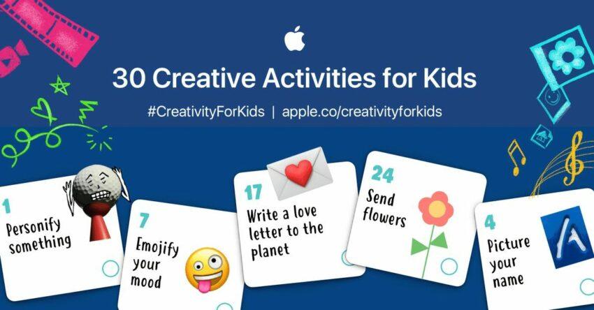 apple 30 creative task for kids coronavirus covid-19 lockdown