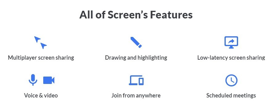 features of scree download