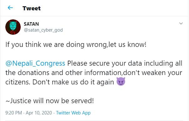 hacker nepali congress target