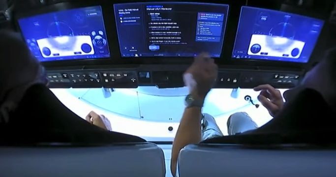 SpaceX touchscreen panel
