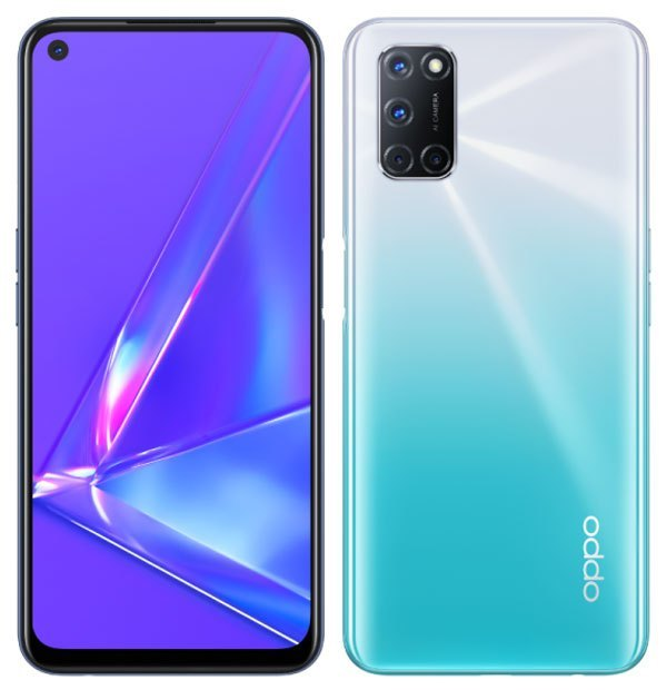 oppo a92 punch hole cutout design display