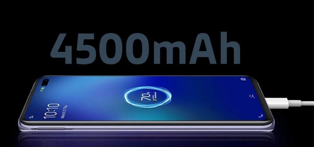 vivo v19 fast charging 4500mAh battery
