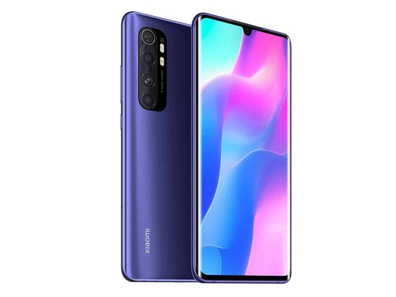 xiaomi mi note 10 lite curved edge design AMOLED display