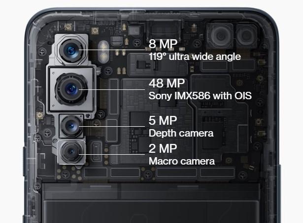 oneplus nord dual selfie rear quad camera setup