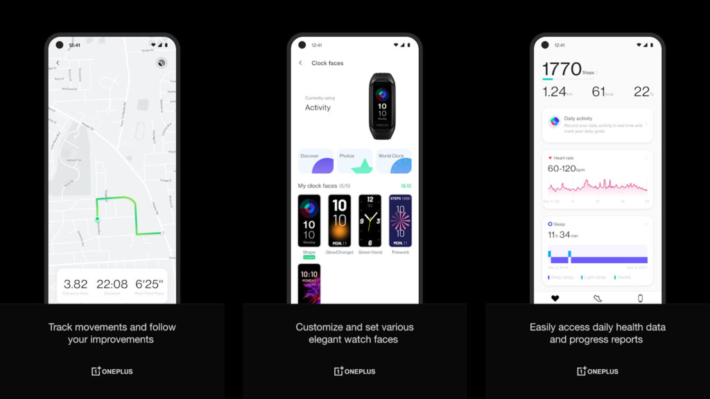 OnePlus Health App for OnePlus fitness band