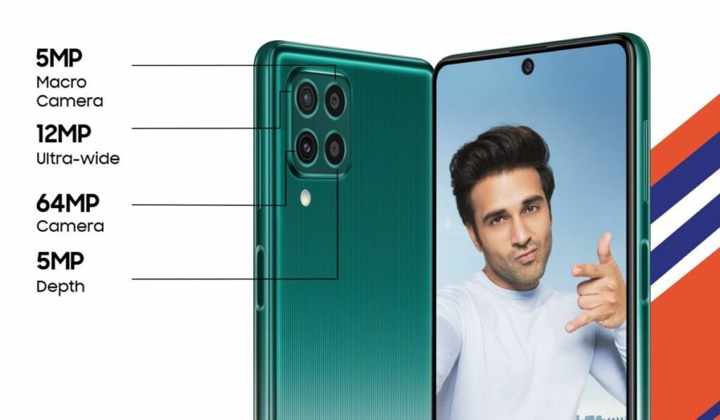 samsung galaxy f62 selfie rear camera specs